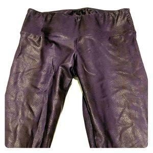 Onzie Purple Snakeskin Pants